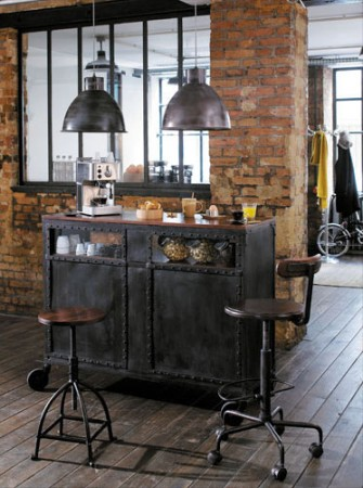 le design industriel avec maisons du monde la cerise sur la d c. Black Bedroom Furniture Sets. Home Design Ideas