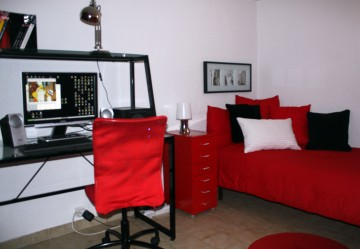 chambre ado style moderne la cerise sur la d c. Black Bedroom Furniture Sets. Home Design Ideas